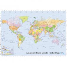 Amateur Radio World Prefix Map 99 cm x 69 cm